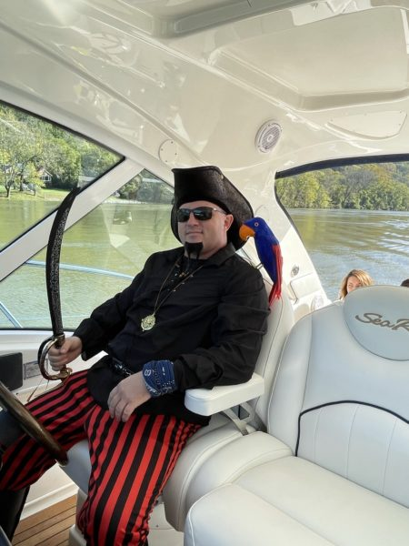 2020 Fall Color Cruise Michael Porter as a pirate