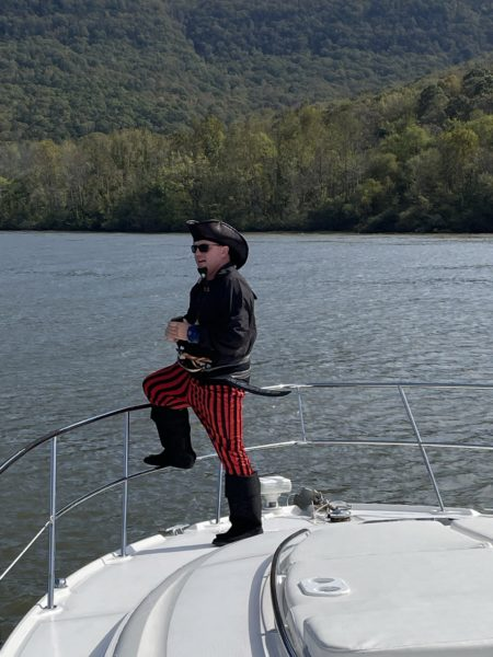 2020 Fall Color Cruise pirate cruising down the gorge